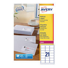 Label Printing Template 21 Per Sheet by Avery Quickpeel Address Labels 63 5 X 38 1mm Pack Of 5250 L7160 250