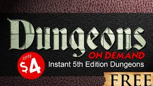 dungeons on demand 5th edition dungeon adventures by dan coleman