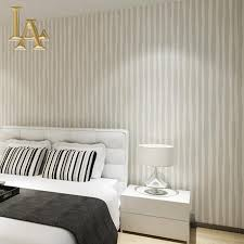 Schlafzimmer Beige Wand Moderne Rosa Beige Gestreifte Tapete Für Wände 3d Tapeten