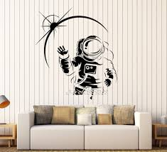cosmonaut space vinyl wall stickers decor child kids room wall cosmonaut space vinyl wall stickers decor child kids room wall decal available in different colors wallpaper 3d poster sa925 in wall stickers from home