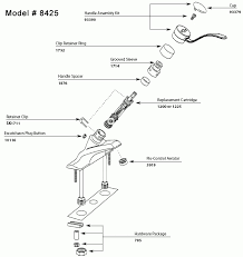 kitchen faucet parts diagram repair parts and finish trim kits for moen faucets pertaining to