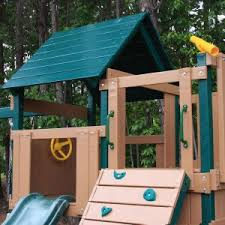 Backyard Discovery Winchester Playhouse Swing Sets With Climbing U0026 Rock Wall Hayneedle