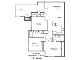 camden floor plan 3 bed 2 bath apartment in rancho cucamonga ca victoria woods