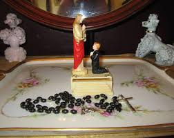 rosary holder vintage communion rosary etsy