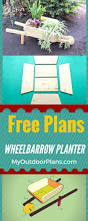 how to build a wheelbarrow planter easy to follow plans for