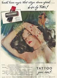 Makeup Artist Handbook Tattoo Advert 1947 Hair And Makeup Artist Handbook
