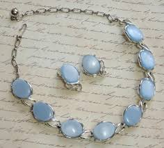 blue stone necklace earrings images Theromset baby blue stone necklace earrings set thermoset baby jpg