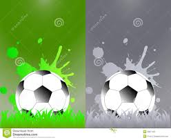 sport template with soccer football ball stock vector image