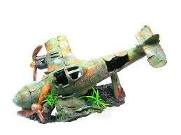 bomber aquarium ornament 13 3 l fighter airplane aircraft