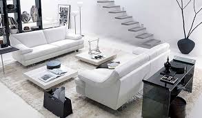 White Leather 2 Seater Sofa Living Room Modern Leather Sofa Bed Contemporary White Leather