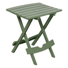 small sturdy folding table adams manufacturing quik fold sage resin plastic outdoor side table