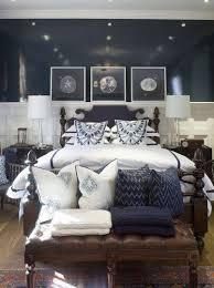 Navy Blue Coastal Bedroom Design Guest Bedroom Pinterest - Dark blue bedroom design