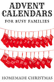 homemade advent calendar christmas ideas for busy families