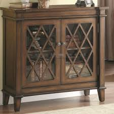 accent cabinet with glass doors coaster vintage lattice overlay accent cabinet 950348