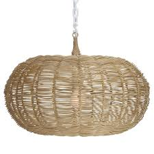 selamat large calabash hanging pendant natural candelabra inc