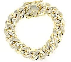 link bracelet silver images Cuban link bracelet silver and cubic zirconia miami jpg
