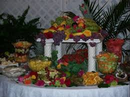 fruit table display ideas fruit table for wedding reception 6f1cbc703090f975a6e5dcab691b4bec