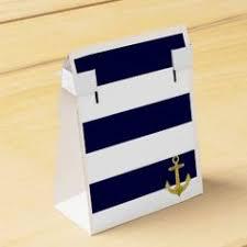 favor favor blue and white stripe nautical wedding party favor favor box