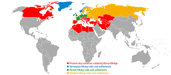 Scandinavia Blank Map by Countries That Were Raided Or Settled By The Vikings Based On
