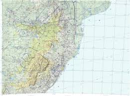 Lesotho Map Download Topographic Map In Area Of Johannesburg Maputo Durban