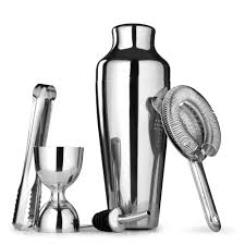 martini shaker set 5 pieces stainless steel cocktail shaker set shaker cup easy to