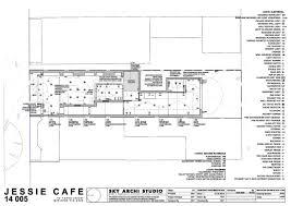 Cafe Floor Plan by Jessie Cafe Sky Archi Studio