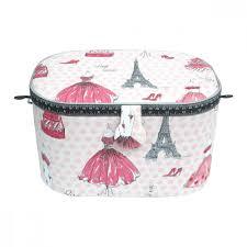 tissus motif paris boîte à couture