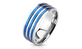 the goods wedding band up to 78 on stailess steel fancy band groupon goods
