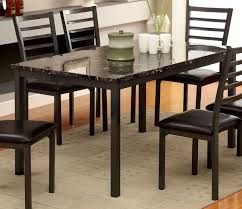 60 Inch Rectangular Dining Table Furniture Of America Cm3615t 60 Colman Black Faux Marble Top 60