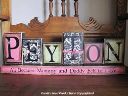 personalized gifts baby girl s personalized and customized name word blocks baby shower