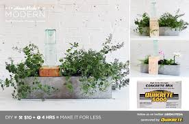 Small Self Watering Pots Homemade Modern Ep49 Self Watering Concrete Planter