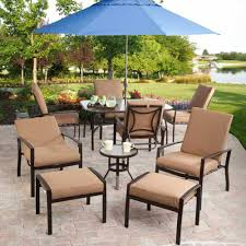 patio wicker patio furniture clearance brown and gold rectangle