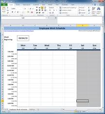 employee schedule template excel free yaruki up info