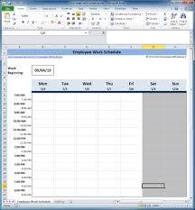 weekly employee schedule template yaruki up info
