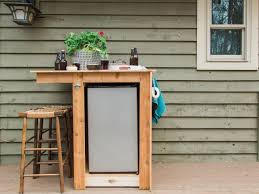 How To Build Outdoor Furniture by How To Build An Outdoor Minibar Hgtv