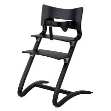 chaise pour bébé chaise haute bébé design et évolutive en bois noir leander