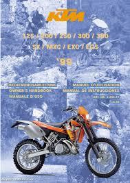 1999 ktm 125 200 250 300 380 sx mxc exc egs motorcycle owners