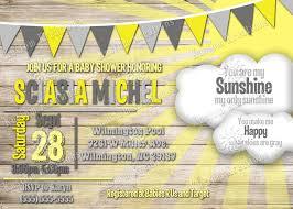 sunshine invitation you are my sunshine baby shower invitations kustom kreations