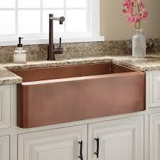 Raina Copper Farmhouse Sink Kitchen - Cooper kitchen sink
