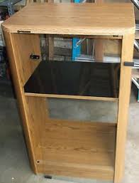 Stereo Cabinets With Glass Doors Pioneer Home Stereo Cabinet Glass Door Front Oak Finish