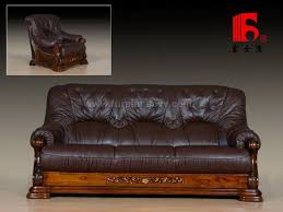 Leather And Wood Sofa Charming Leather And Wood Sofa Leather And Wood Sofa Facil