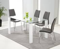 Grey Dining Table Chairs Dining Table With Grey Chairs Sl Interior Design