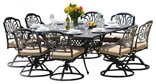 8 Piece Patio Dining Set Stunning 8 Person Outdoor Dining Table Amalia 8 Person Luxury Cast