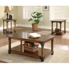 3 piece end table set coffee table sets you ll love wayfair