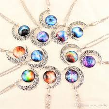 jewellery necklace vintage images Wholesale gem necklaces vintage moon necklace starry outer space jpg