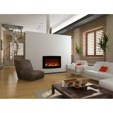 elite flame 35 inch york curved black wall mounted electric fireplace