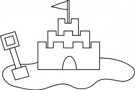 Sand Castle Outline Coloring Page Download Print Online Sandcastle Coloring Page