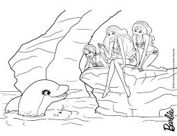 dolfin barbie u0027s friends coloring pages hellokids