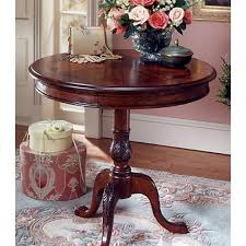 round pedestal accent table plantation cherry round pedestal table butler specialty company