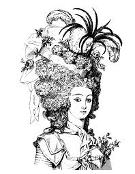 hairdressing style marie antoinette livre 1880 royal coloring